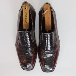Genuine Leather Snake Skin Stacy Adams Dress Shoes